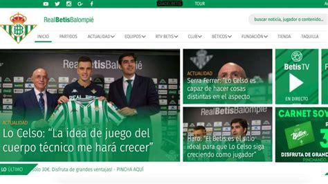 Betis: El Betis estrena sus nuevas web y app oficiales ...