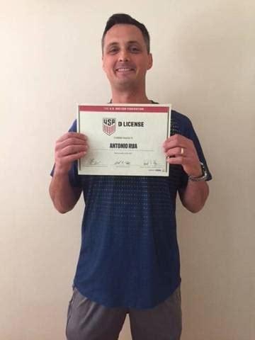 BHYSC Volunteer Coach Tony Rua Receives US Soccer D ...