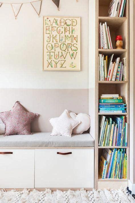 Biblioteca y banco con cajones | Dormitorio niños ikea ...