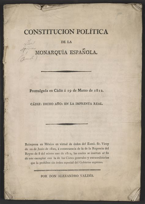 Bicentennial of the Promulgation of the Spanish ...