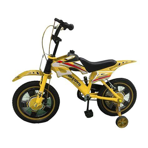 Bicicleta Infantil Aro 16 Bike Moto Freio a Disco Amarela ...