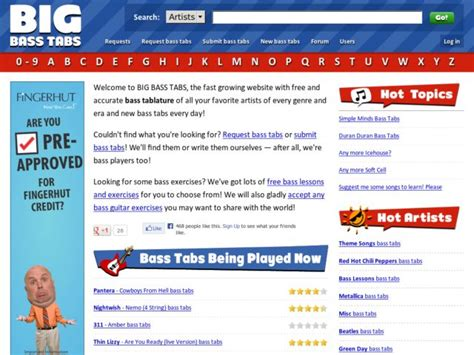 Big Bass Tabs at DjangoSites.org
