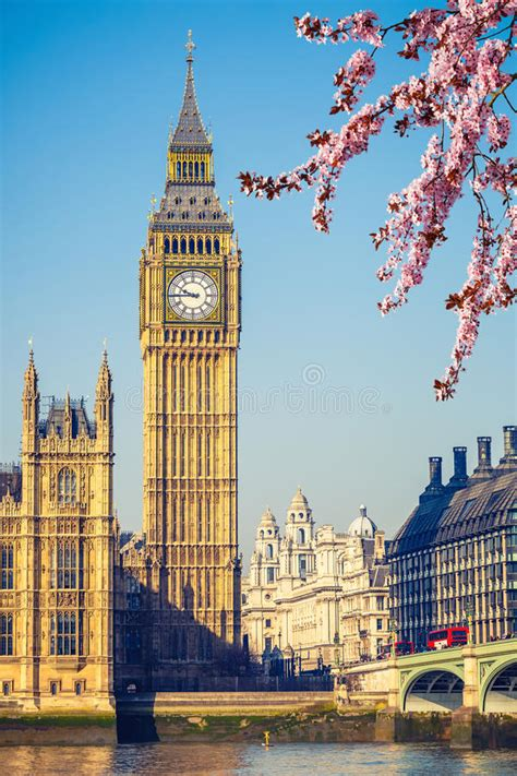 Big Ben In London At Spring Stock Image   Image of ...