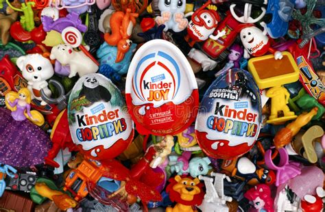 Big Heap Of Kinder Surprise Toys And Eggs. Editorial Image ...