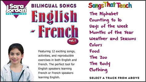 Bilingual Songs | English French | Vol 1   YouTube