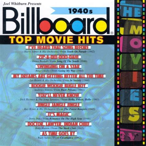 Billboard Top Movie Hits 1940s   Various Artists | Songs ...