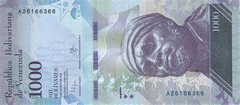 Billet Venezuela 1000 Bolivares Negro Primero   2016  2017