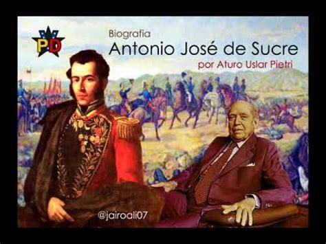 Biografia: Antonio Jose de Sucre  audio    YouTube