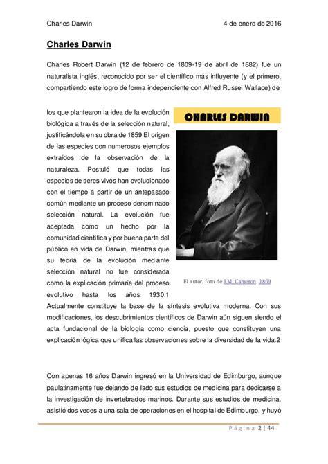Biografia Charles darwin