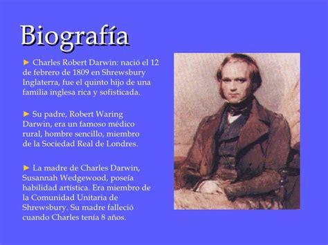 Biografia de charles darwin resumida yahoo dating