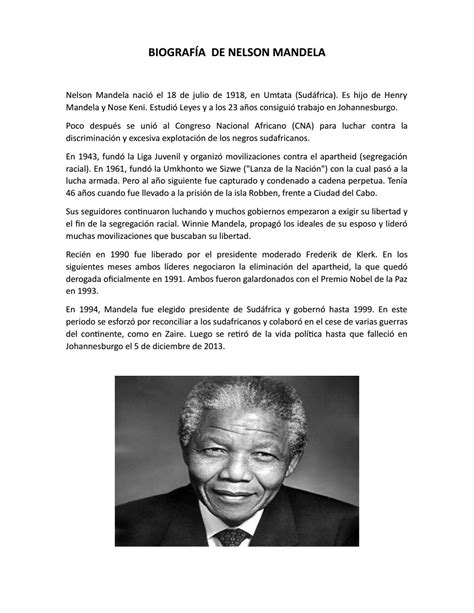 Biografía de nelson mandela by Lucio Aguilar   Issuu