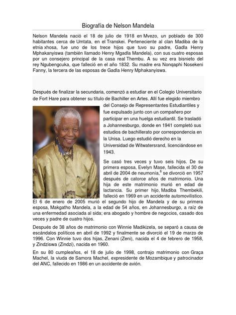Biografía de Nelson Mandela | Nelson Mandela | Sudáfrica