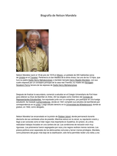 Biografía de Nelson Mandela | Nelson Mandela | Violencia ...