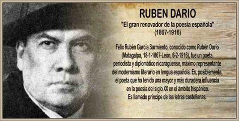 Biografía de Rubén Dario Vida y Obra Literaria del Poeta