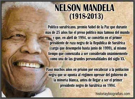Biografia Nelson Mandela Vida Politica y Lucha Contra el ...