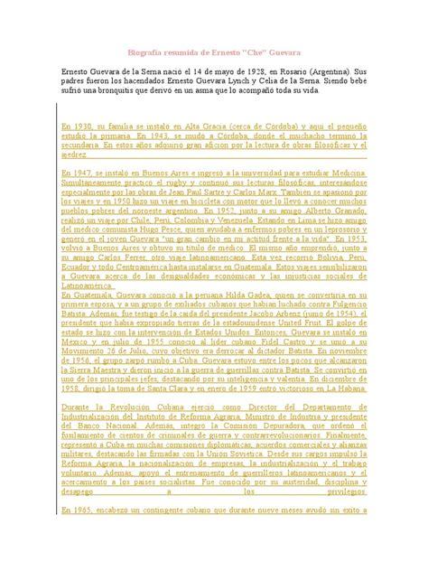 Biografía Resumida de Ernesto | Nelson Mandela | Che Guevara