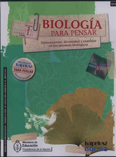 Biologia para pensar harburguer l kapeluz norma 2009