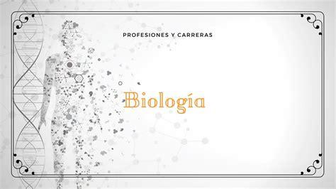 BIOLOGÍA   Profesiones y Carreras   Educación   YouTube