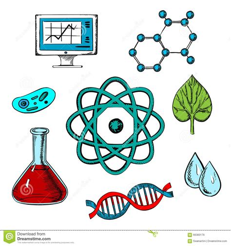 Biology Flat Concept Design Stock Vector   Illustration of ...
