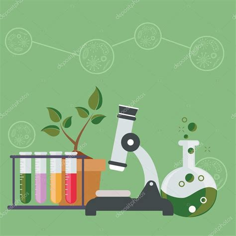 Biology laboratory workspace — Stock Vector  royalty ...