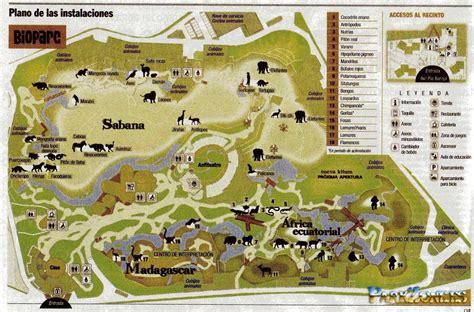 [Bioparc] Plano del parque zoológico de Valencia