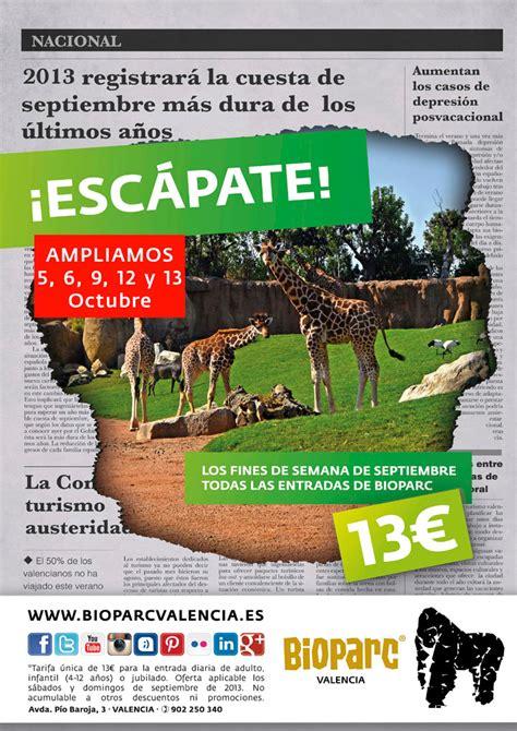 """Bioparc Valencia amplía la promoción """"Escápate"""" por 13 ..."""