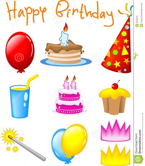 BIRTHDAY ICONS stock illustration. Illustration of cake ...