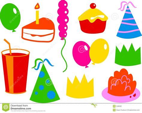 Birthday Icons Stock Photography   Image: 248592