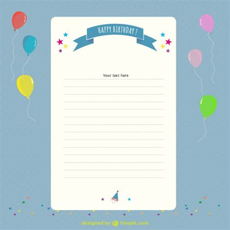 Birthday letter and balloons Vector | Free Download
