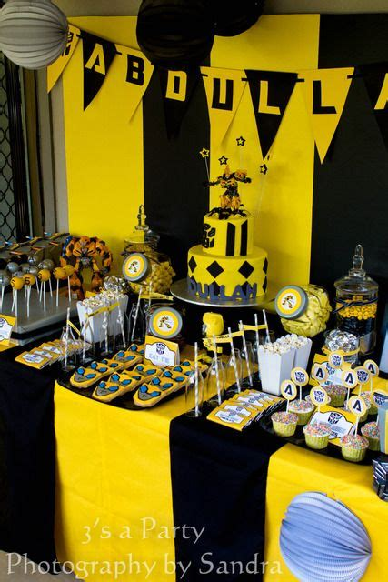 Birthday Party Idea for my Transformer fanatic. But change ...