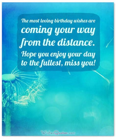 Birthday Wishes for Someone Special who is Far Away By ...