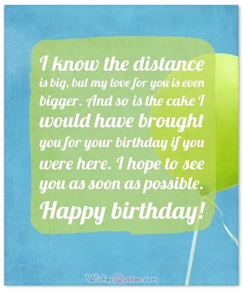 Birthday Wishes for Someone Special who is Far Away ...