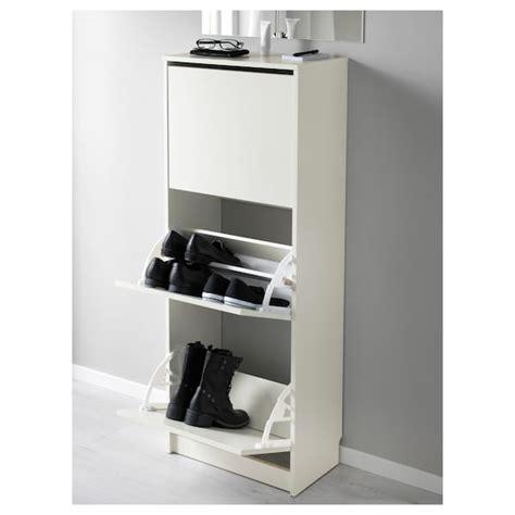 BISSA Zapatero 3, blanco, 49x135 cm   IKEA