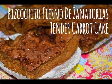 Bizcochito Tierno de Zanahorias/Tender Carrot Cake  sin ...
