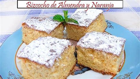 Bizcocho de Almendra y Naranja | Receta de Cocina en ...