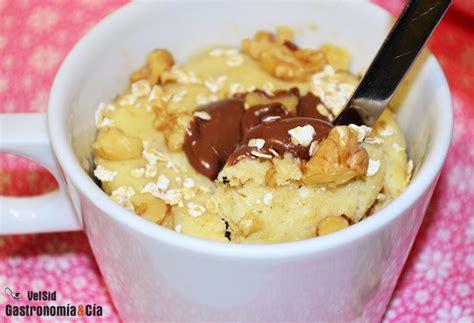 Bizcocho de avena y Nutella en taza | Gastronomía & Cía