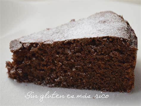 Bizcocho de chocolate y almendra sin gluten