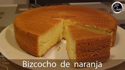 Bizcocho de naranja sin yemas fácil y rápido   Orange cake ...