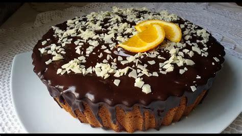 bizcocho de naranja y chocolate muy esponjoso   YouTube