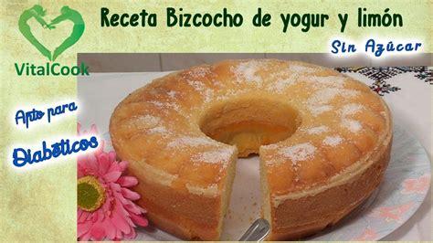 Bizcocho de yogur y limón Sin azúcar apto para diabéticos ...