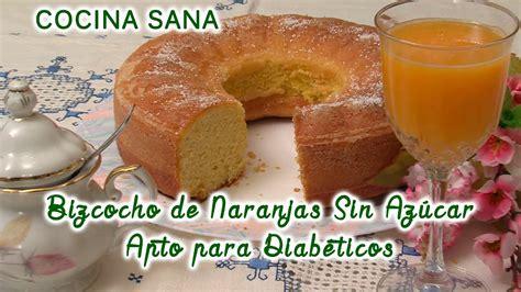 Bizcocho de Yogurt y Naranjas apto para Diabéticos   Sin ...