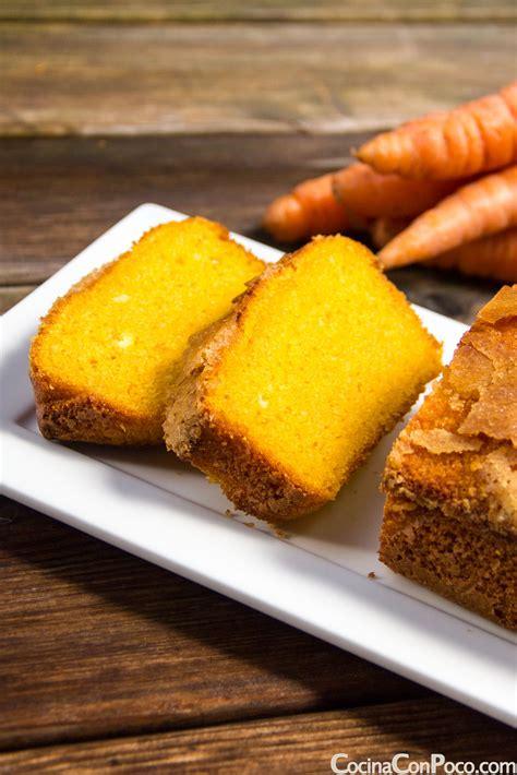 Bizcocho de Zanahoria   Receta facil   Sin gluten ...