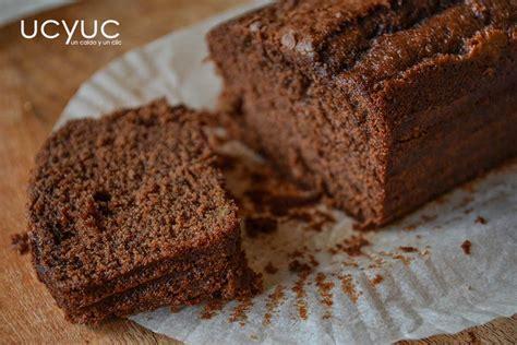 Bizcocho esponjoso de chocolate y nueces | un caldo y un clic