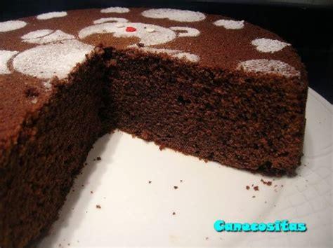 Bizcocho sencillo de chocolate   Recetariocanecositas