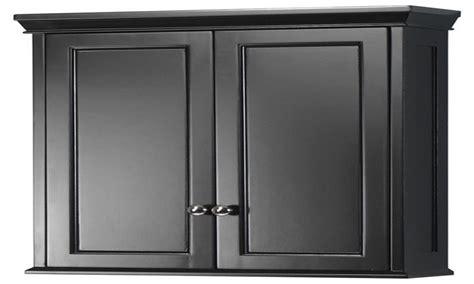 Black bathroom medicine cabinet, hanging wall cabinets ...