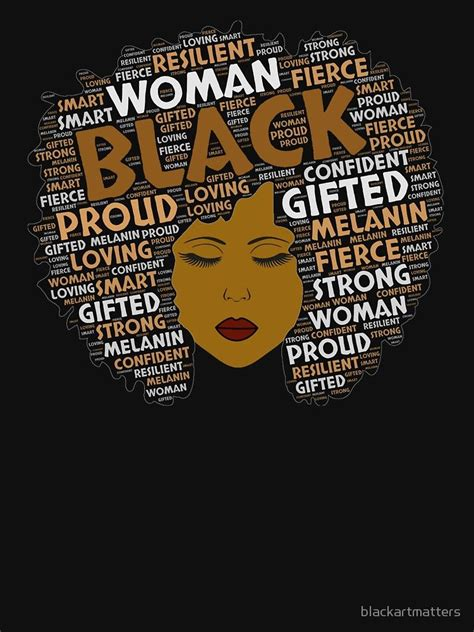 Black Girl / Woman Words in Afro Art  Essential T Shirt ...