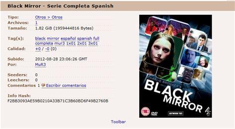 Black Mirror en español, serie completa 1ª Temporada ...