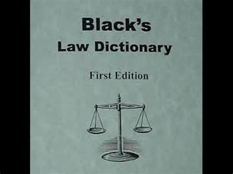 Black s Law Dictionary. It s a TRAP!   YouTube