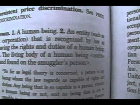 Black s Law Dictionary Person Definition   YouTube