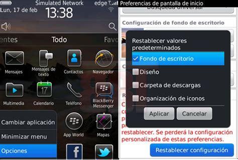 BlackBerry Trucos   Cómo Restablecer el Fondo de Pantalla ...